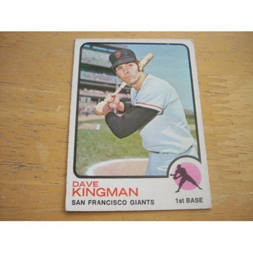 1973 Baseball Card 23 Dave Kingman Giants Cubs OK Shape