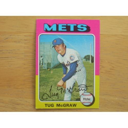 1975 Baseball Card 67 Tug McGraw New York Met's Nice Shape