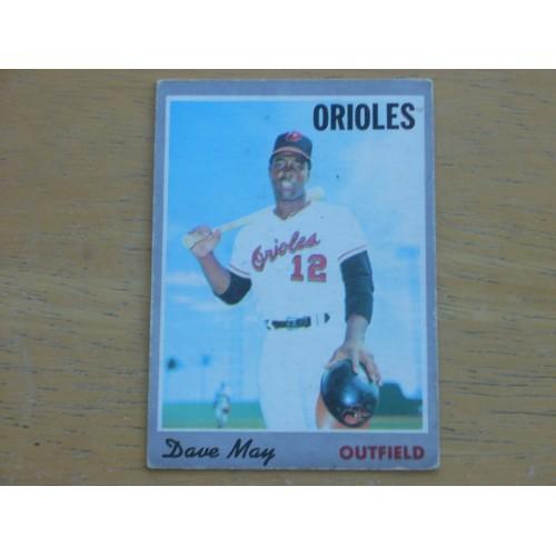 1970 Baseball Card 81 Dave May Orioles OK Shape