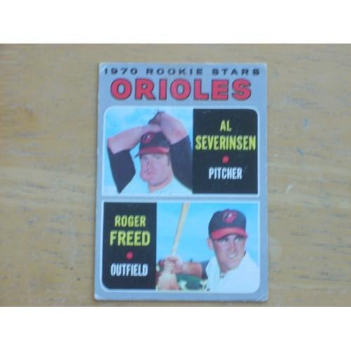 1970 Baseball Card 477 Orioles Rookies Freed Nice Shape