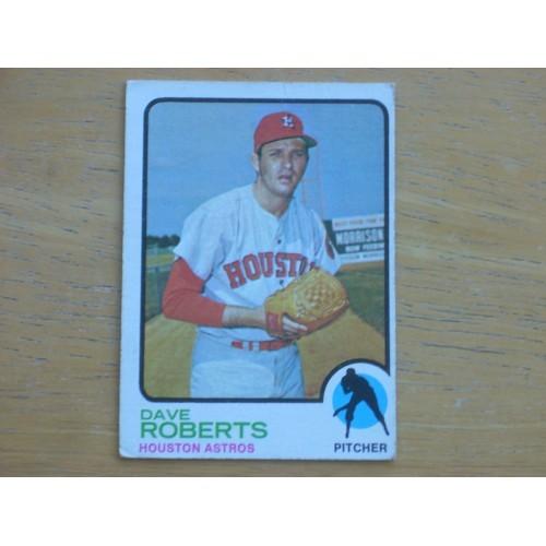 1973 Baseball Card 39 Dave Roberts Astros Nice Shape
