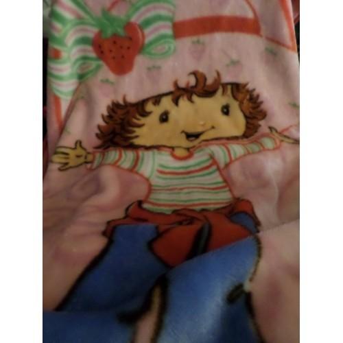 "Strawberry Shortcake Blanket Girl standing 2nd generation SSC Pink Red soft  42"""