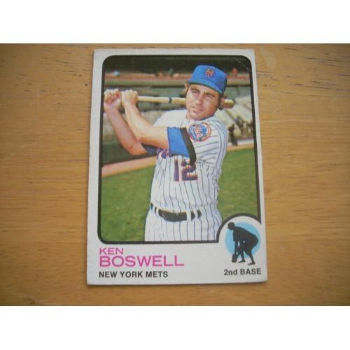 1973 Baseball Card 87 Ken Boswell New York Mets Nice Shape
