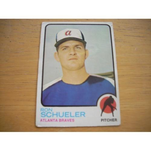 1973 Baseball Card 169 Ron Schueler Braves Low Mid Grade