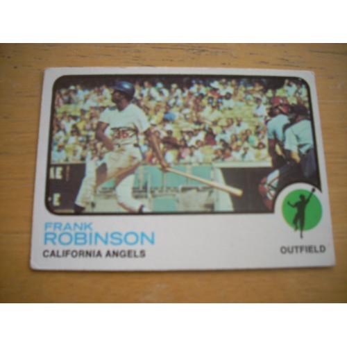 1973 Baseball Card 175 Frank Robinson Angels Orioles Nice Shape