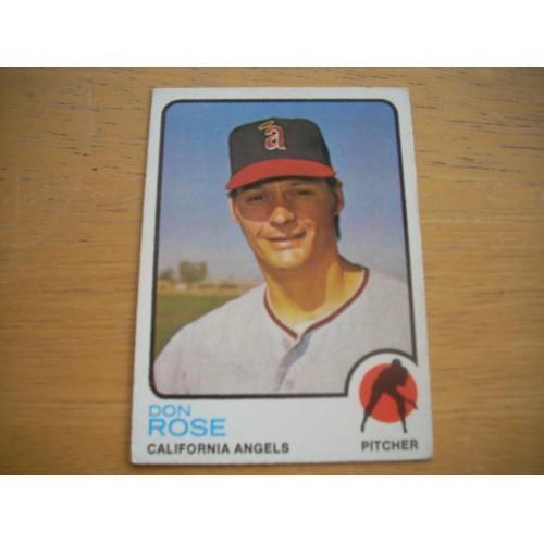 1973 Baseball Card 178 Don Rose Angels Very Nice Shape