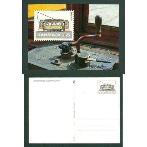 Denmark. Stationary Card. 1984. Post Denmark.  Street Car. 3.75 Kr. Unused