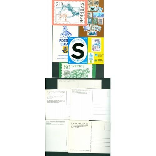 Sweden. 5 Postcard Sweden Post. 1979-1980es.