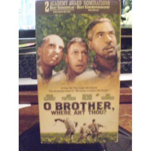 VHS TAPE: #360.. O BROTHER WHERE ART THOU - GEORGE CLOONEY - JOHN TURTURRO - TI