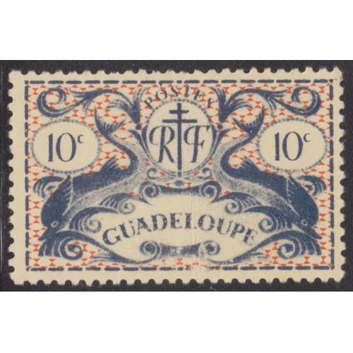 UNUSED GUADELOUPE #168 (1945)