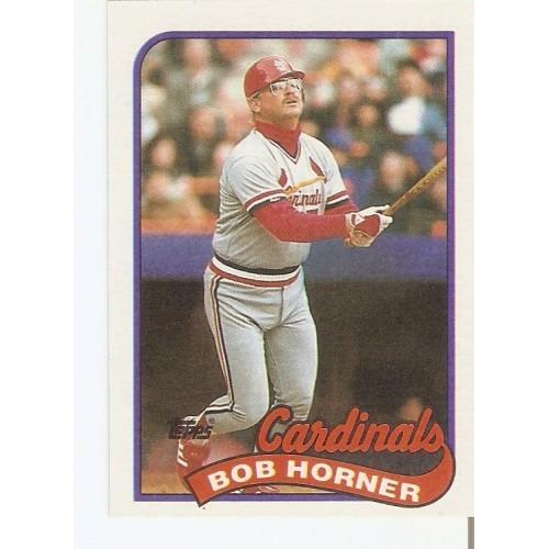 Bob Horner 1989 Topps #510 Braves Cardinals slight OC