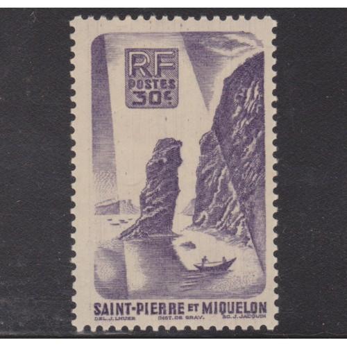 UNUSED SAINT PIERRE & MIQUELON #325 (1947)