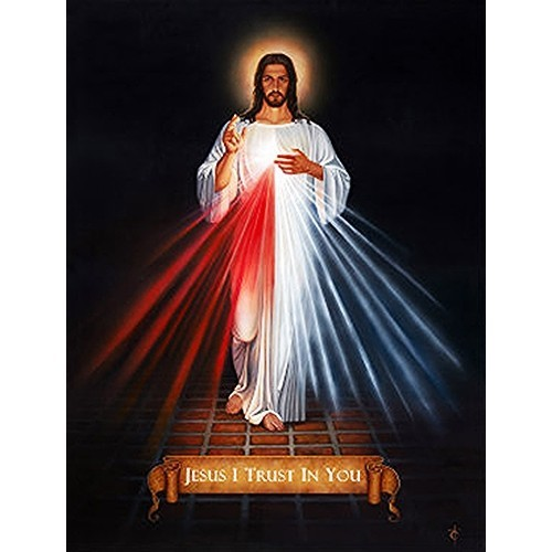 """DIVINE MERCY - Print - 8"""" x 11.5"""" by Tommy Canning"""