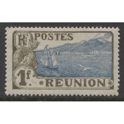 1907  REUNION   1 Fr.  View of St. Pierre  mint*,  Scott # 91