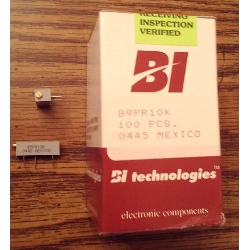 Lot of 100: BI Technologies 89PR10K Cermet Trimmer Potentiometer