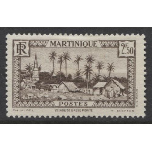 1940  MARTINIQUE  2.50 Fr. Village of Basse-Pointe mint*,  Scott # 168