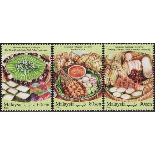 Malaysia 2017 S#1681-1683 Festive Food Series -- Malay MNH