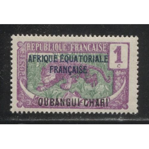 1924 UBANGI-SHARI  1 c.  Middle Congo stamps with overprint  mint*,  Scott # 41