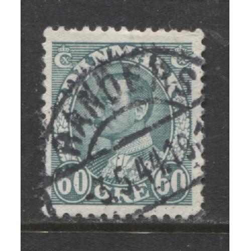 1934  Denmark  60 o.  King Christian  X  used, Scott # 240