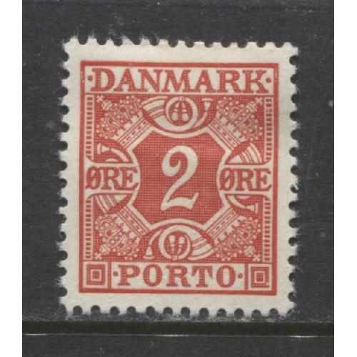 1934  Denmark  2 o.  postage due  mint*, Scott # J26