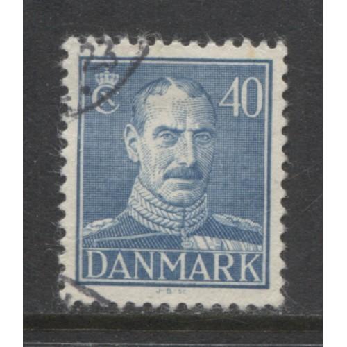 1943  Denmark  40 o.  King Christian  X  used, Scott # 286