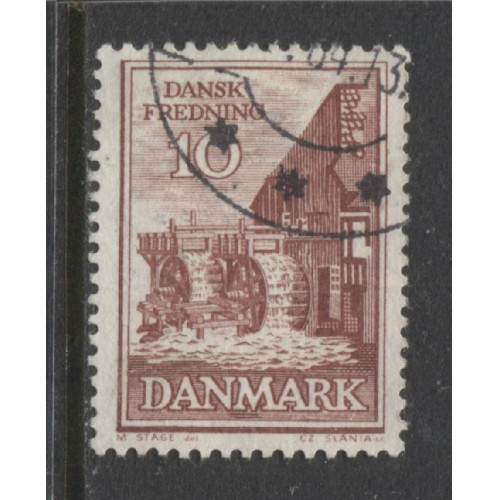 1962 Denmark  10 o. Old Mill  used, Scott # 402