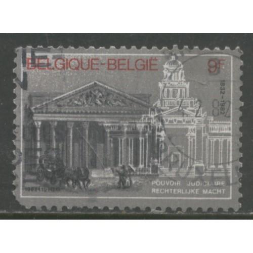 1982  BELGIUM   9 Fr.  Judiciary sesquicentennial   used, Scott # 1111