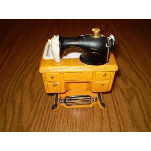 "vintage ceramic ""sewing machine"" planter Inarco Japan RARE"
