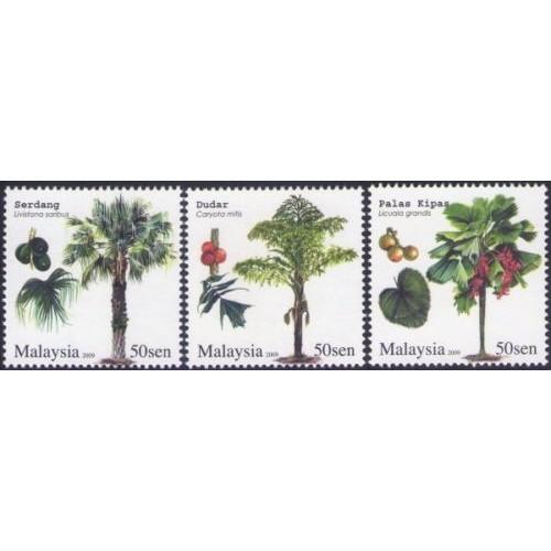 Malaysia 2009 S#1244-1246 Palm Trees MNH flora