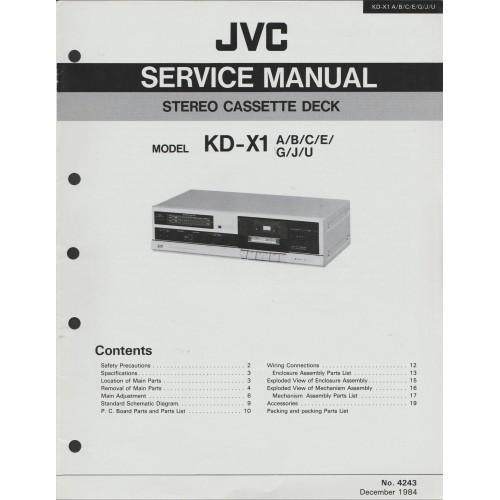 JVC KD-X1 Cassette Deck Service Manual