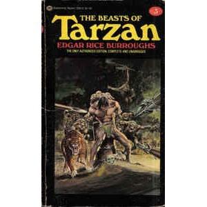 BURROUGHS Edgar Rice BEASTS OF TARZAN Adams Cover