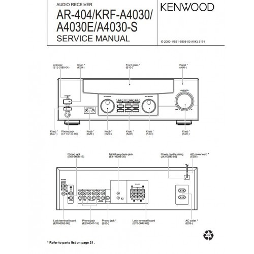 kenwood service manuals, owners manuals and schematics on ... wire diagram kenwood kr series kenwood cd receiver wire diagram