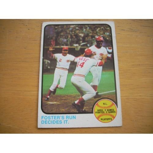 1973 Baseball Card 202 N.L. Playoffs Red's Rose Very Nice Shape