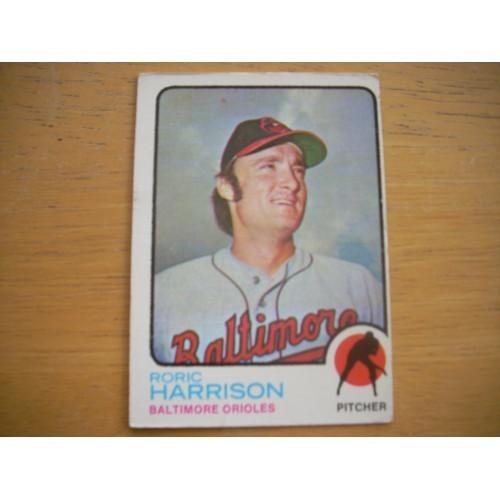1973 Baseball Card 229 Roric Harrison Rookie Orioles Nice