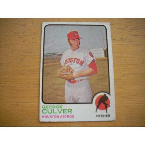 1973 Baseball Card 242 George Culver Astros Very  Nice Shape