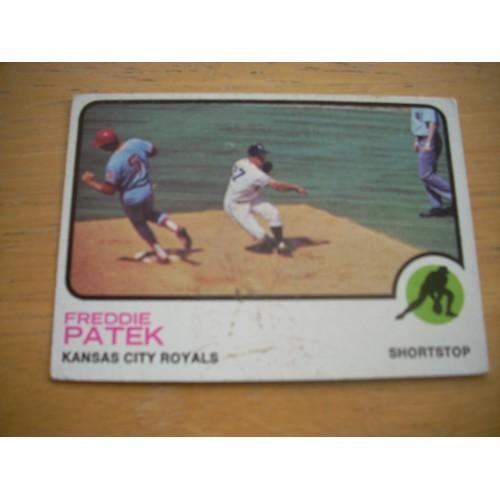 1973 Baseball Card 334 Freddie Patek Royals Nice Shape
