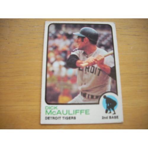 1973 Baseball Card 349 Dick McAuliffe Very Nice Shape