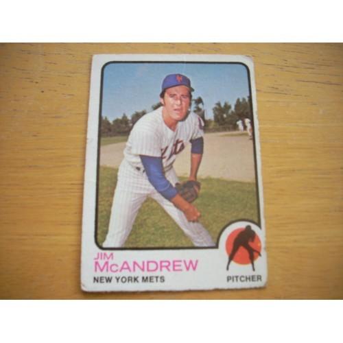 1973 Card 436 James McAndrew New York Mets Mid Hi #