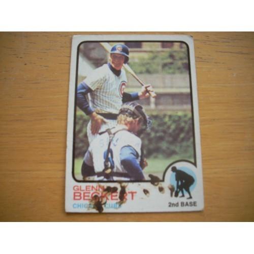 1973 Card 444 Glenn Beckert Chicago Cubs Mid Hi # OK Shape