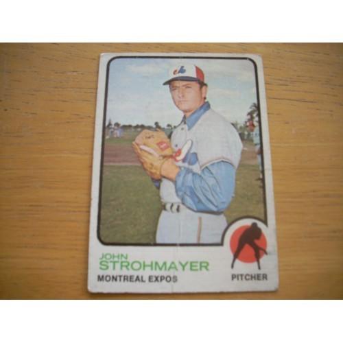 1973 Baseball Card 457 John Strohmayer Mid Hi # OK Shape