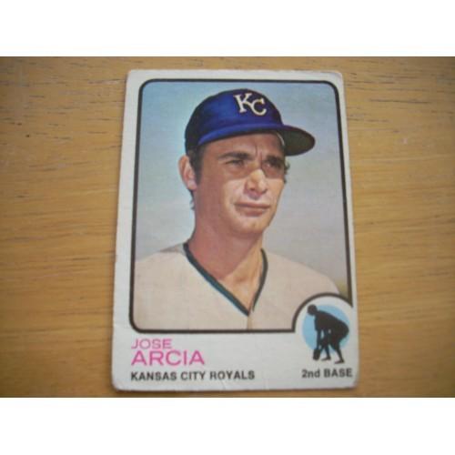 1973 Baseball Card 466 Jose Arcia Royals Mid High Number