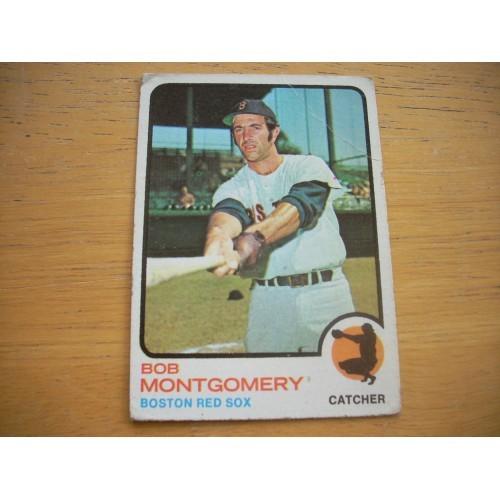 1973 Baseball Card 491 Bob Montgomery Mid Hi # OK Shape