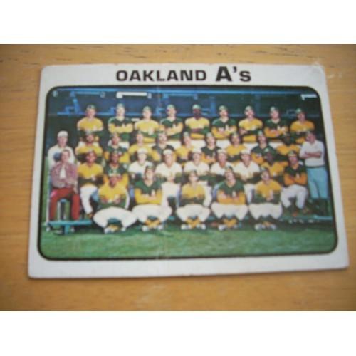 1973 Baseball Card 500 A's Team Mid Hi OK Shape