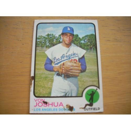 1973 Baseball Card 544 Von Joshua High Number OK Shape