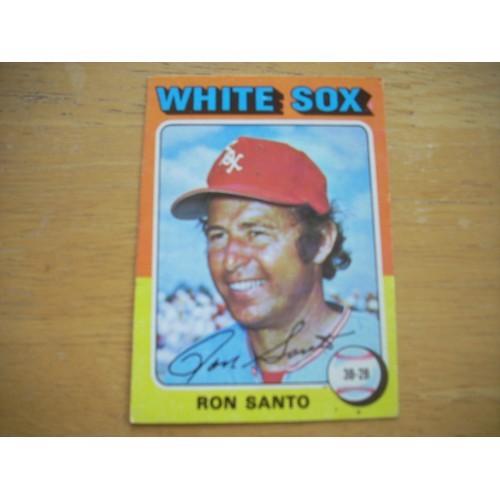 1975 Baseball Card 35 Ron Santo Cubs White Sox Nice Shape
