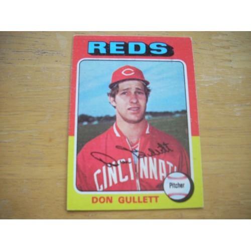 1975 Baseball Card 65 Don Gullett Reds Very Nice Shape