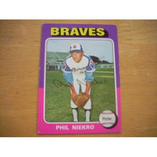 1975 Baseball Card 130 Joe Niekro Braves Very Nice Shape