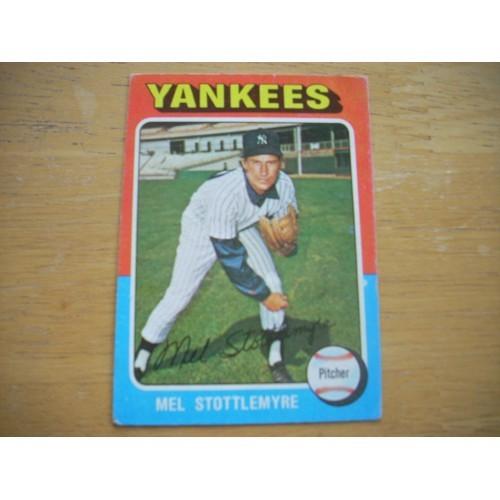 1975 Baseball Card 183 Mel Stottlemyre Yankees Nice Shape