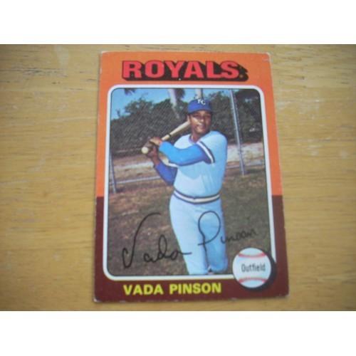 1975 Baseball Card 295 Vada Pinson Royals Reds Very Nice
