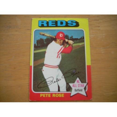 1975 Baseball Card 320 Pete Rose Reds Nice Shape